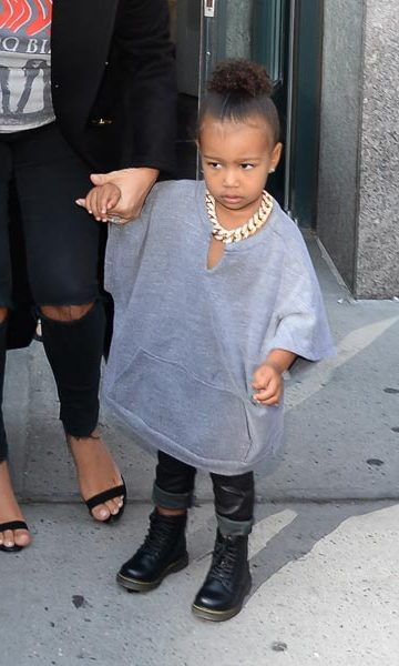 North channels her dad Kanye in her grungy ensemble.<p>Photo: © Getty Images</p>