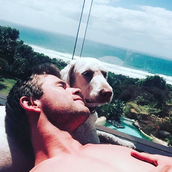 When he wasn't on the beach, Chris Hemsworth was resting at home in Australia.
