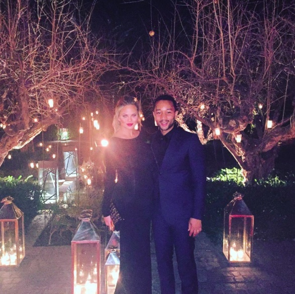 """Happy New Year, guys!! We love you, we really do. What a year...already thinking about how different this one will be!! Bye bye 2015 - thank you for everything you brought and taught us!"" - Chrissy Teigen and John Legend