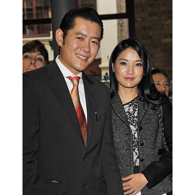 All eyes were on the Bhutanese royal as she and her husband paid a visit to London, where they were greeted by <strong>Prince Charles</strong> and the <strong>Duchess of Cornwall</strong> for a reception at the Prince's Foundation for the Built Environment. Queen Jetsun not only showed off her elegant style in a chic black and white dress teamed with a grey coat, but she wowed royal fans with her fresh-faced dewy complexion, pale pink lips and smooth glossy hair.
