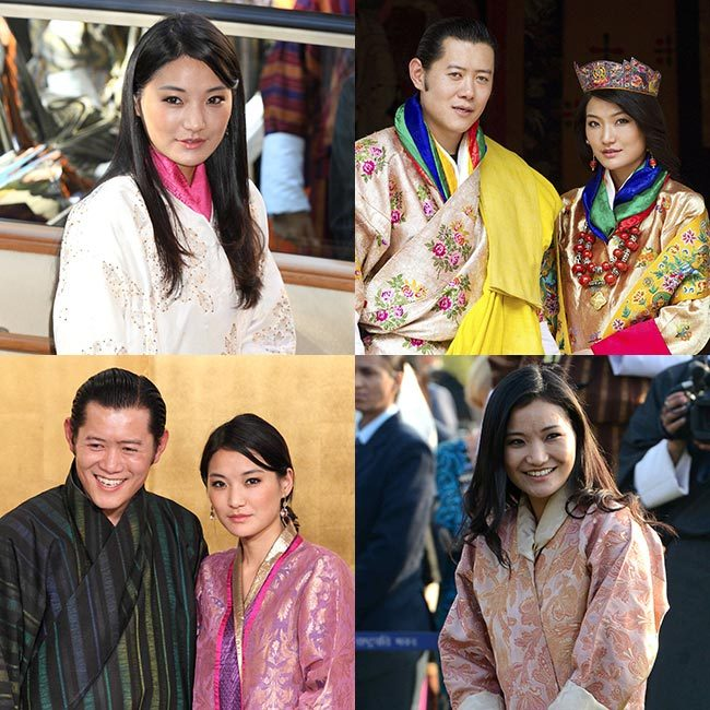Bhutan's <strong>Queen Jetsun Pema</strong>, the wife of <strong>King Jigme Khesar Namgyel Wangchuck</strong>, has often been praised by royal fans for her striking beauty, turning heads with effortlessly glamorous hair and makeup. All eyes were on the stylish royal as she welcomed the <strong>Duke and Duchess of Cambridge</strong> during their royal tour of the country in April 2016.