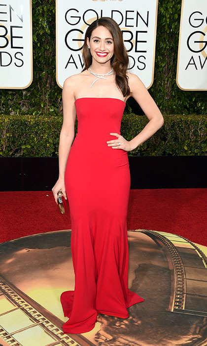 Emmy Rossum in Armani.