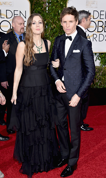 Parents-to-be Hannah Bagshawe and Eddie Redmayne co-ordinated their look.<br>