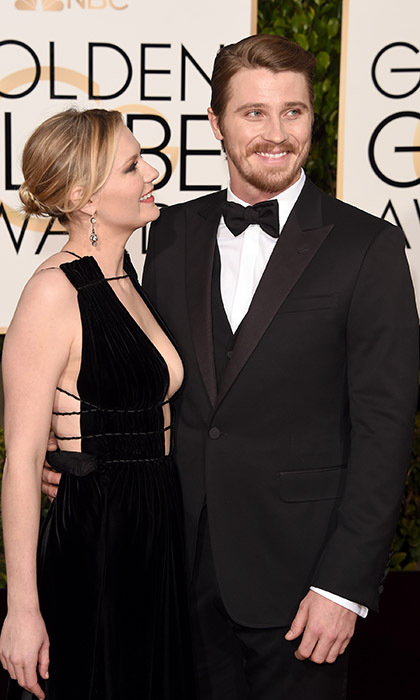 Kirsten Dunst can't take her eyes off her leading man, Garrett Hedlund.<br>