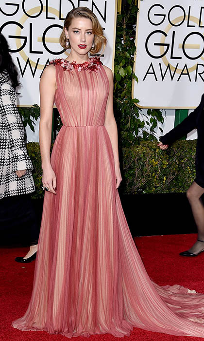Amber Heard in Gucci. 