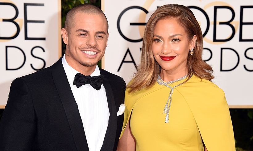 Jennifer Lopez and Casper Smart made a rare appearance together.<br>