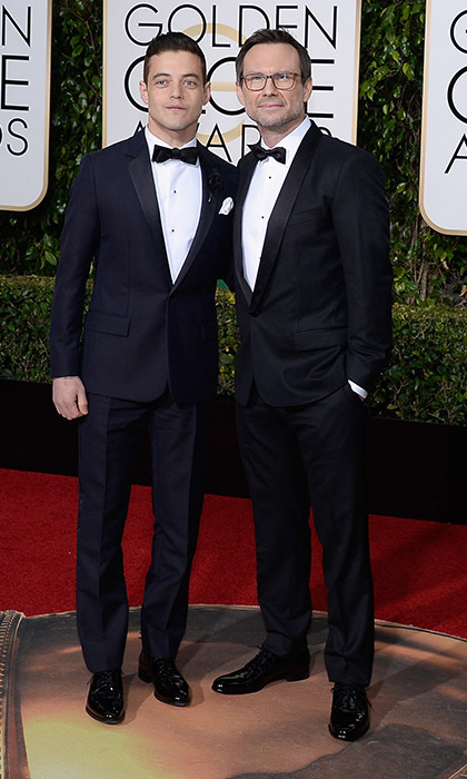 Rami Malek and Christian Slater<br>
