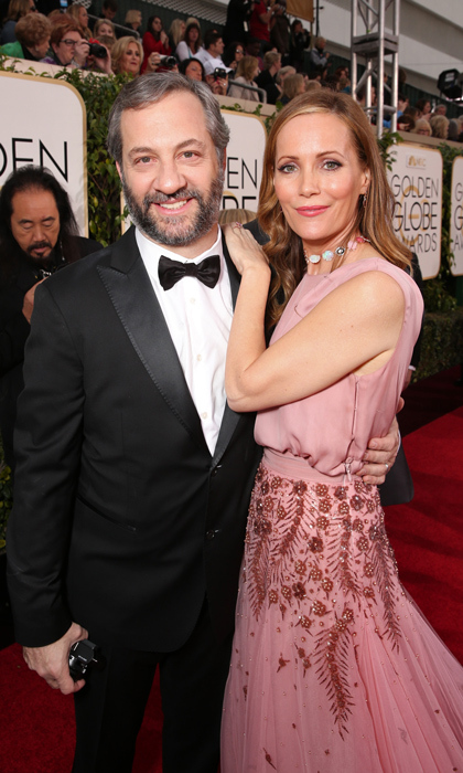 Funny couple Judd Judd Apatow and Leslie Mann.<br>