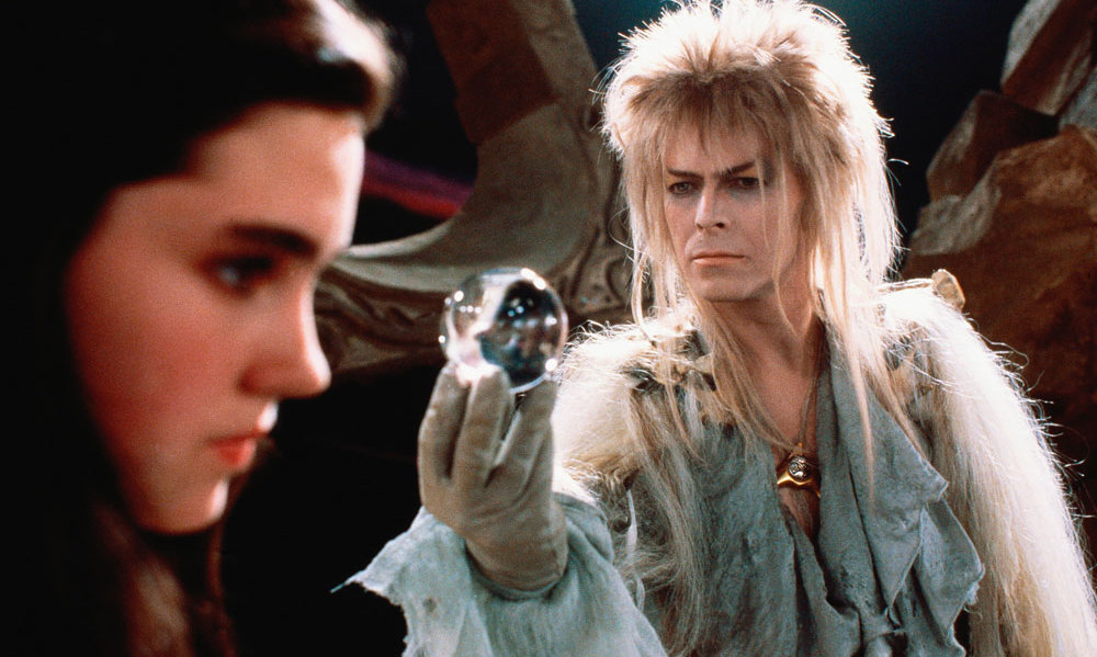 The 1986 adventure fantasy film <em>Labyrinth</em> starred David Bowie alongside a young Jennifer Connelly.