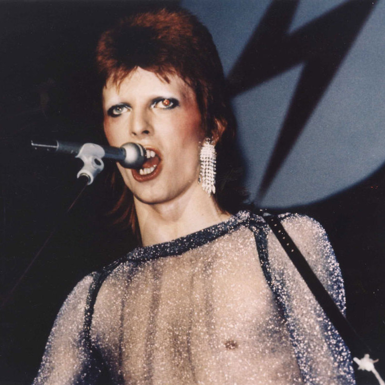 David starred in <em>The Rise and Fall of Ziggy Stardust and the Spiders From Mars</em>, a documentary and concert movie featuring David and his backing group, the Spiders from Mars, performing at the Hammersmith Odeon on July 3, 1973.