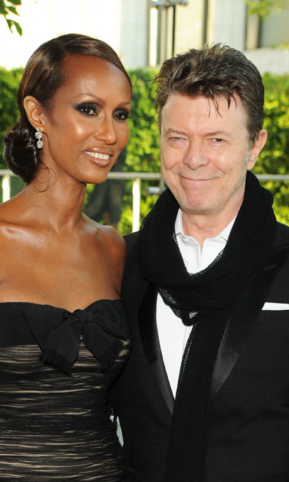 The Ziggy Stardust icon and his model wife Iman at the CFDA Fashion Awards in 2010.