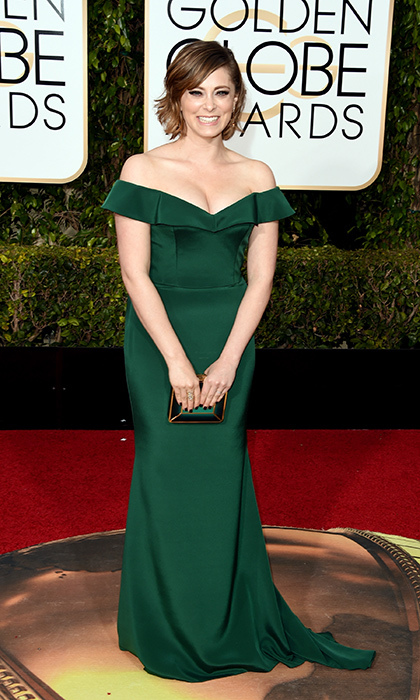 Rachel Bloom in Christian Siriano.