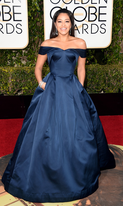 Gina Rodriguez in Zac Posen. 