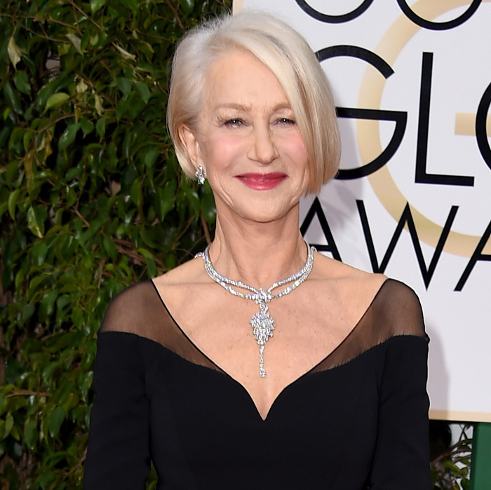 Helen Mirren in Harry Winston.