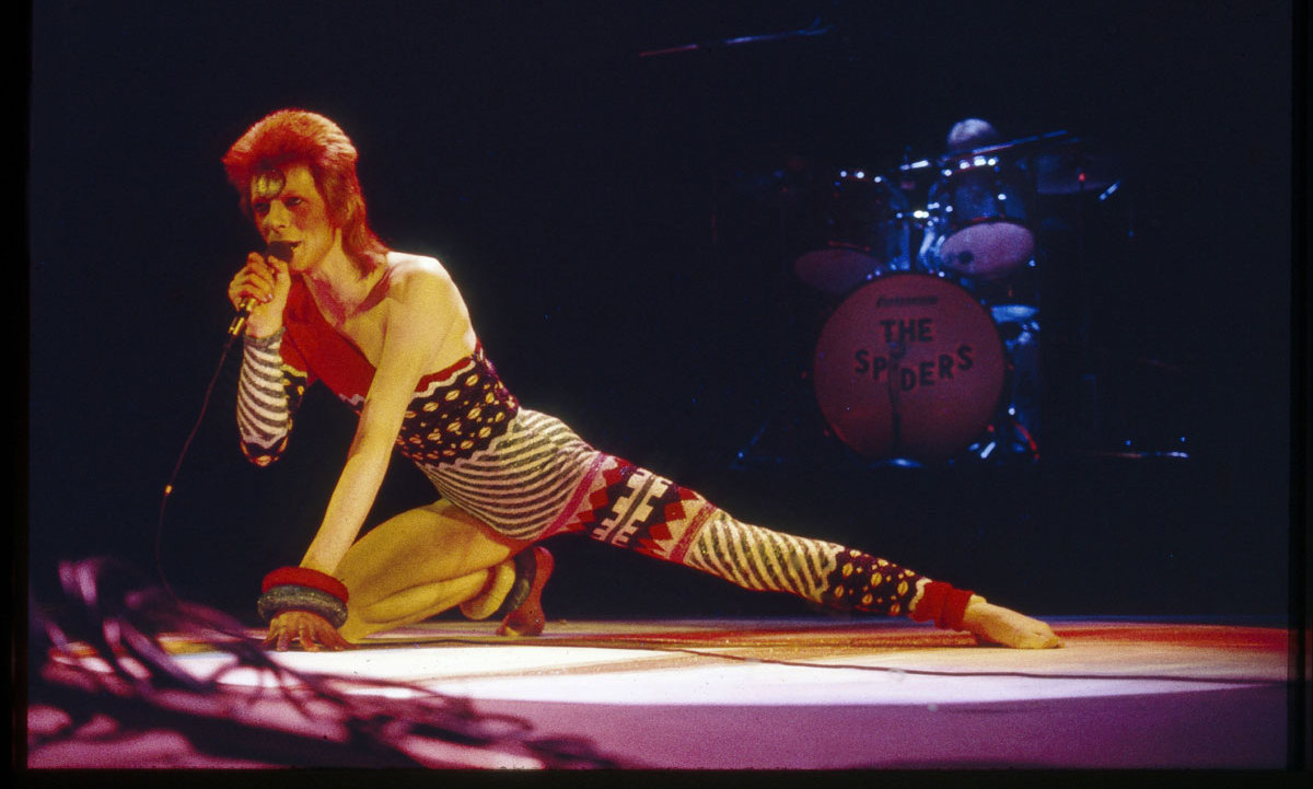 "<b>111</b> singles: The man behind Ziggy Stardust never slowed down. Since the debut of his first track ""Liza Jane/Louie, Louie Go Home"" on June 5 1964, David has released a total of 111 singles. Some of his most memorable hits include: ""Space Oddity,"" ""Changes"" and the John Lennon-penned tune ""Fame."" 