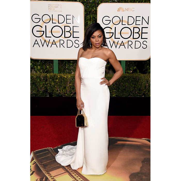 Brides who are after a classic strapless gown need look no further than <em>Empire</em> star Taraji P Henson's dress.
