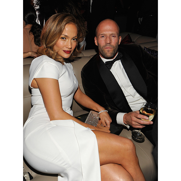 Jennifer Lopez reunited with her <i>Parker</i> co-star Jason Statham at the <i>InStyle</i> party. 