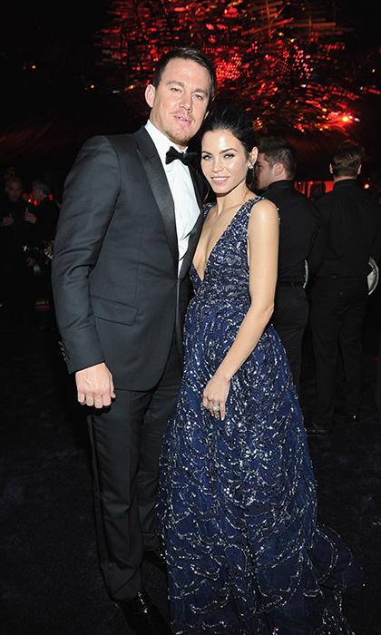 Loved-up couple Channing Tatum and his wife Jenna hit the party circuit together. 