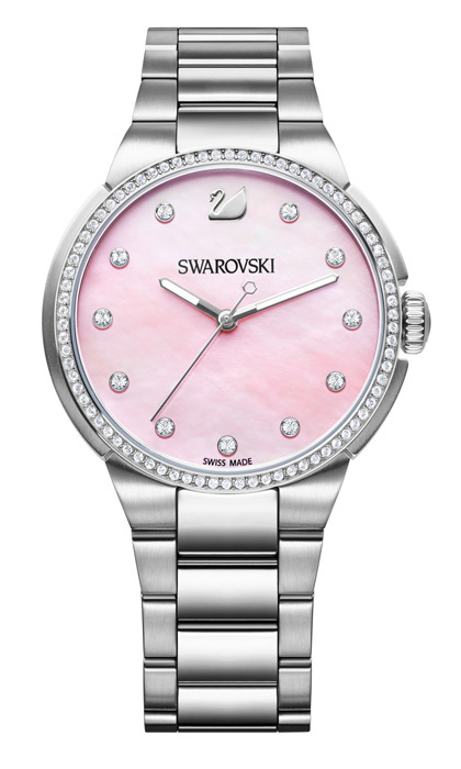 <strong>Swarovski City Rose watch</strong>, $399,