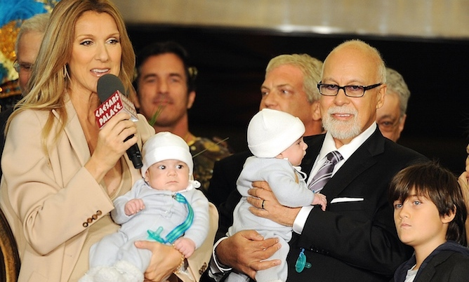 3ee556a8ad85 When René introduced his twins with Celine Dion to the world  Read the   Hello!  exclusive