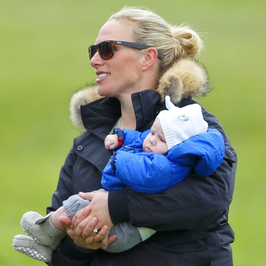 Hoping to instill a love of horses in her daughter, Zara took baby Mia to her first riding event when she was just three months old.