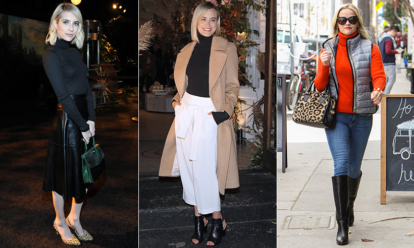 If there's one article of clothing you should be running to add to your wardrobe this season (and wear with the culottes you've already added to your winter repertoire), it's a turtleneck. We take a page from the books of <b>Emma Roberts</b>, <b>Taylor Schilling</b> and <b>Reese Witherspoon</b> on how to wear the cold-weather staple and which turtlenecks are your best bet this year!