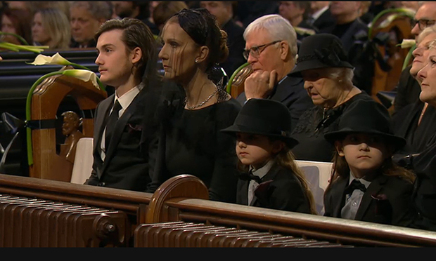 Celine Dion and family say emotional farewell at René ...