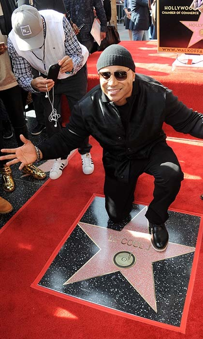 <i>Lip Sync Battle</i> host LL Cool J was all smiles as he received his star on the Hollywood Walk of Fame. Next up for the rapper? Hosting the GRAMMYs on Feb. 15. 