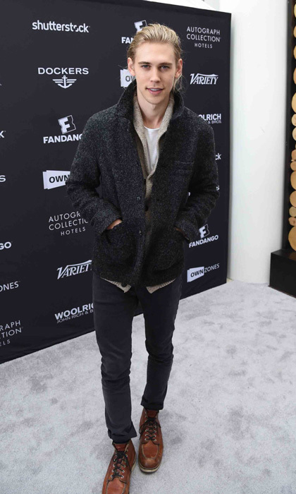 January 24: Austin Butler browsed some Dockers clothing at the Variety Fandango Studio.