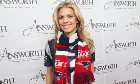 January 25: Annalynne McCord rooted for the New England Patriots during the Ainsworth Game Watch Party presented by Element Electronics.
