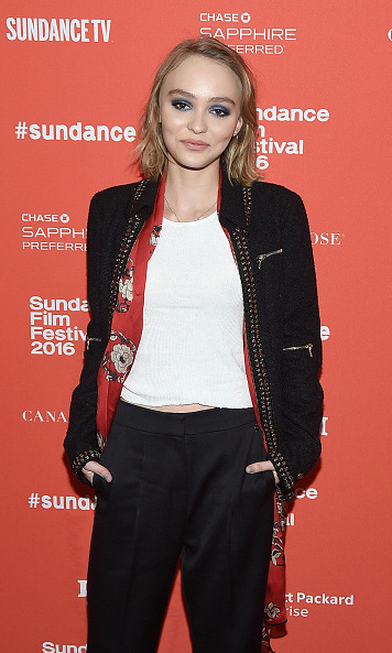 January 24: Lily-Rose Depp graced the red carpet during the premi&egrave;re of her new film <em>Yoga Hosers</em> at the Library Center Theatre at the Sundance Film Festival.