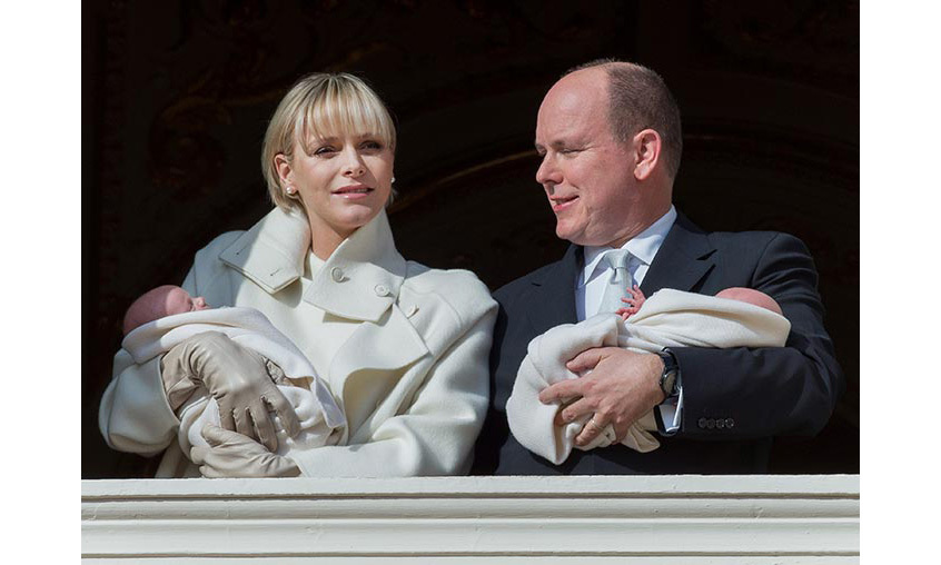 Charlene was as radiant as ever as she and husband Prince Albert introduced their adorable twins to the world, with the new mother wearing her fringed hairstyle in a sleek and straight style, opting for little makeup save for a hint of blush and pale-pink lips.