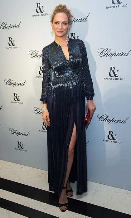 Uma Thurman at a dinner hosted by Ralph & Russo and Chopard.