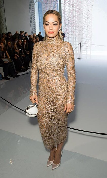 Rita Ora at Ralph & Russo.