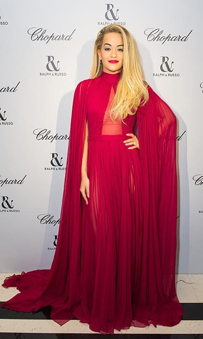 Rita Ora at a dinner hosted by Ralph & Russo and Chopard.