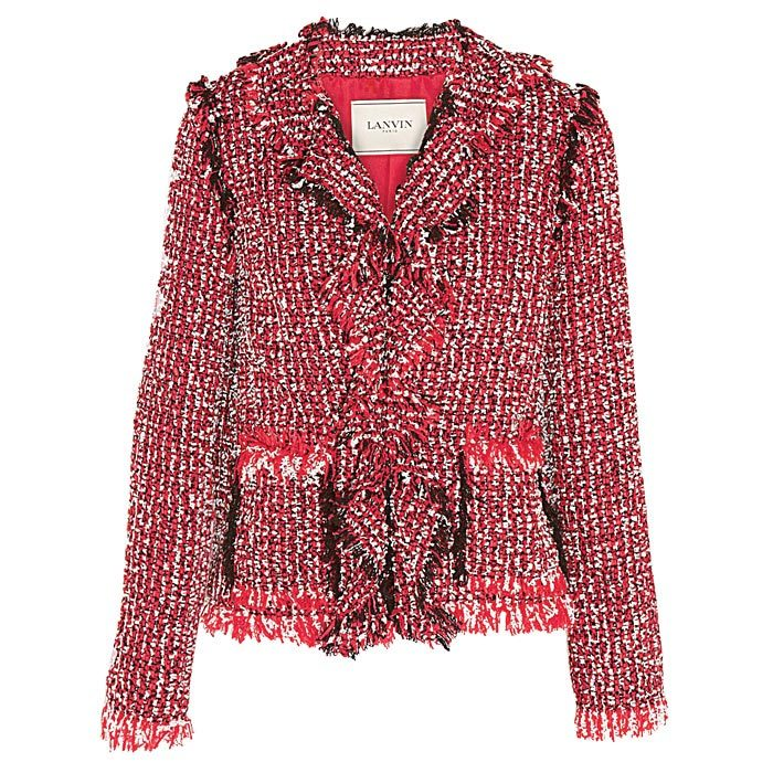 <strong>Lanvin ruffled cotton-blend tweed jacket</strong>, $6,362,