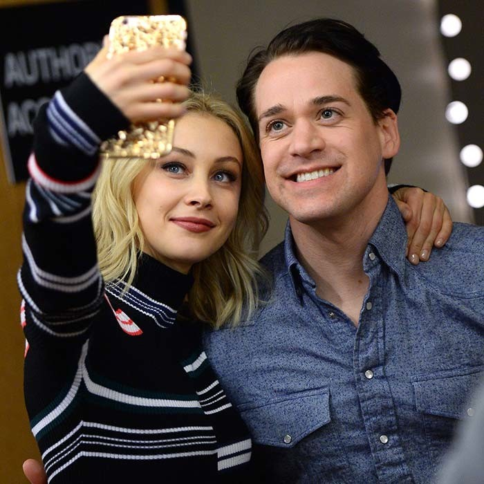 Canadian beauty Sarah Gadon snagged a selfie alongside T.R. Knight at the Sundance premiere of their new series <i>11.22.63</i> <p>Photo: © Getty Images</p>
