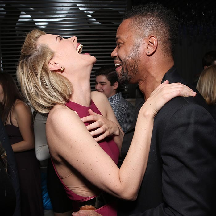 Cuba Gooding Jr. sent his <i>American Crime Story - The People v. O.J. Simpson</i> co-star Sarah Paulson into a fit of giggles at the series's premiere after party in Los Angeles. 