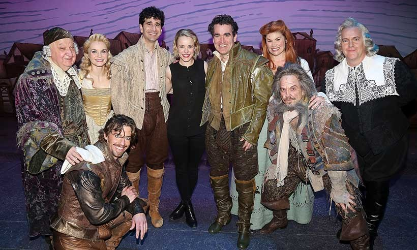 Rachel McAdams was anything but rotten during a meet and greet with the cast of Broadway's hit musical <i>Something Rotten</i> in New York. 