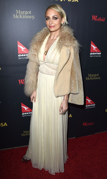 Nicole Richie may have been in California at the G'Day Los Angeles Gala, but her Alberta Ferretti gown and fur-embellished jacket would have been right at home in Sundance's winter wonderland. The designer completed the '70s-worthy look with her own House of Harlow 1960 baubles.