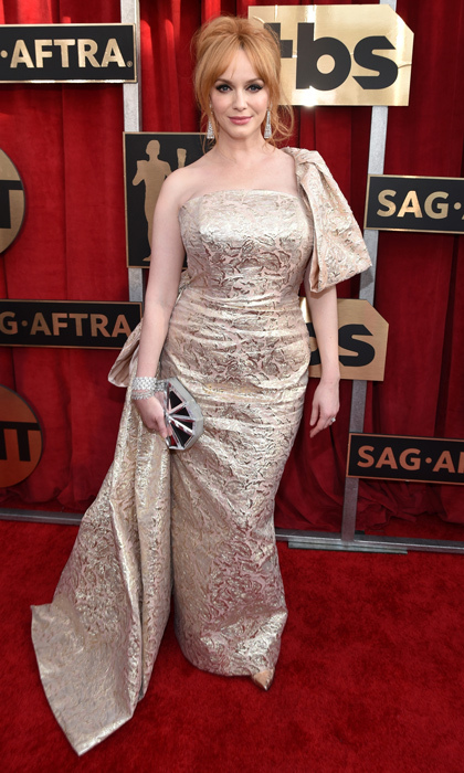 Christina Hendricks in Christian Siriano