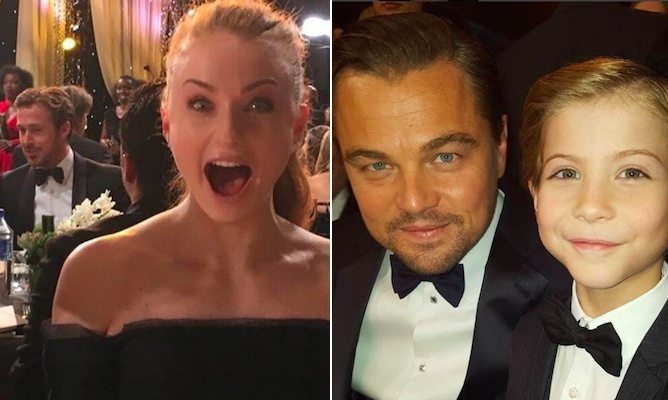 From Jacob Tremblay and Leonardo DiCaprio's adorable selfie to Sophie Turner's love for Ryan Gosling, the stars experienced some major pinch-me moments at the 2016 SAG Awards. Here, we round up some of the best pictures they shared on social media.