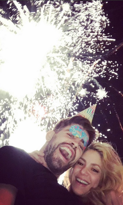 Shakira and Gerard kicked off 2016 right where they belong - in each other's arms. 