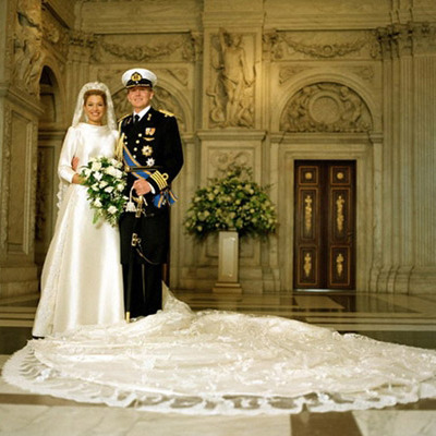 The official portrait of Crown Prince Willem-Alexander and his wife Máxima, the couple who were later named King and Queen of the Netherlands.