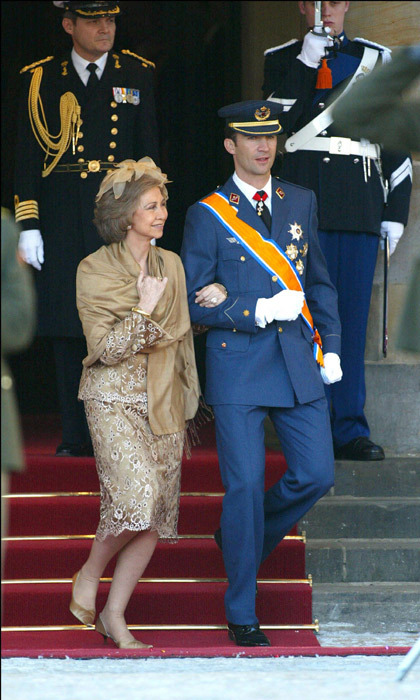 Spain's Queen Sofia and her son, Prince Felipe, joined Europe's royal elite at the wedding.