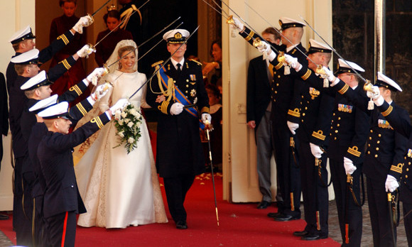 Following the ceremony, Willem-Alexander and Máxima left the Beurs van Berlage arm in arm. Their first action as man and wife was to call Máxima's parents, who were watching the ceremony in London.