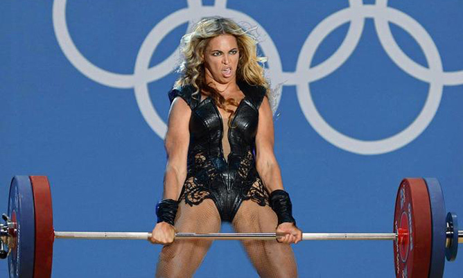 Many memes that hit the Internet after Beyoncé's performance in 2013 featured the superstar showing off her immense strength - and over-the-top facial expressions.