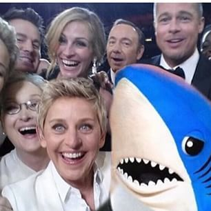 "Just when you thought the famous ""Oscars selfie"" couldn't have any more star power, enter Left Shark."