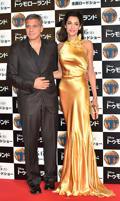 A golden goddess at the premi&egrave;re of <em>Tomorrowland</em> in Tokyo.