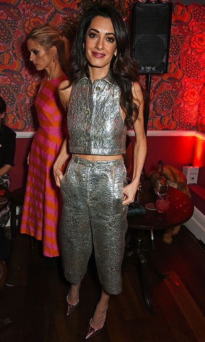 Amal looked stunning at the Charlotte Tilbury store launch in London.